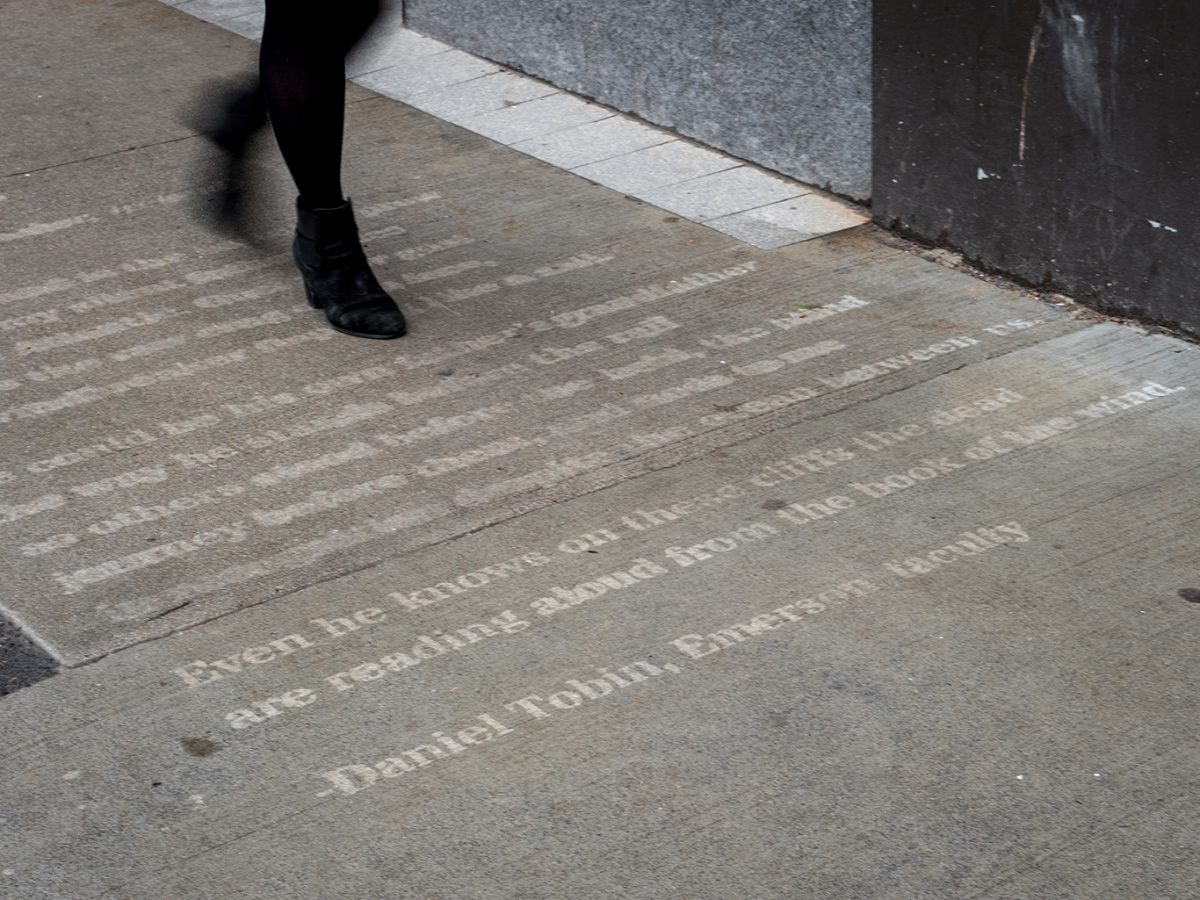 Walking on sidewalk poem