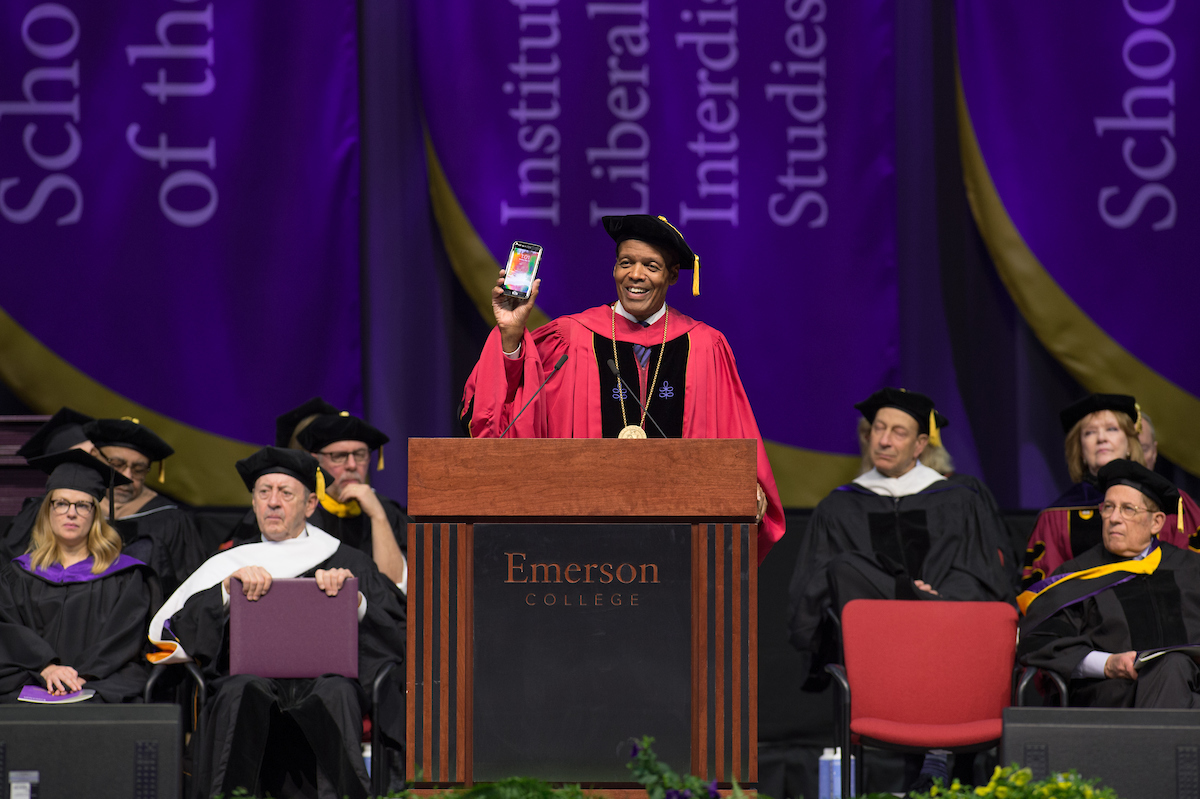 Lee Pelton at 2018 Emerson Undergraduate Commencement