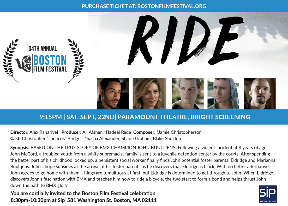 Poster for the movie, Ride