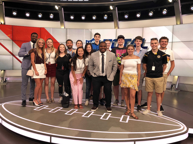 Students in ESPN Studio