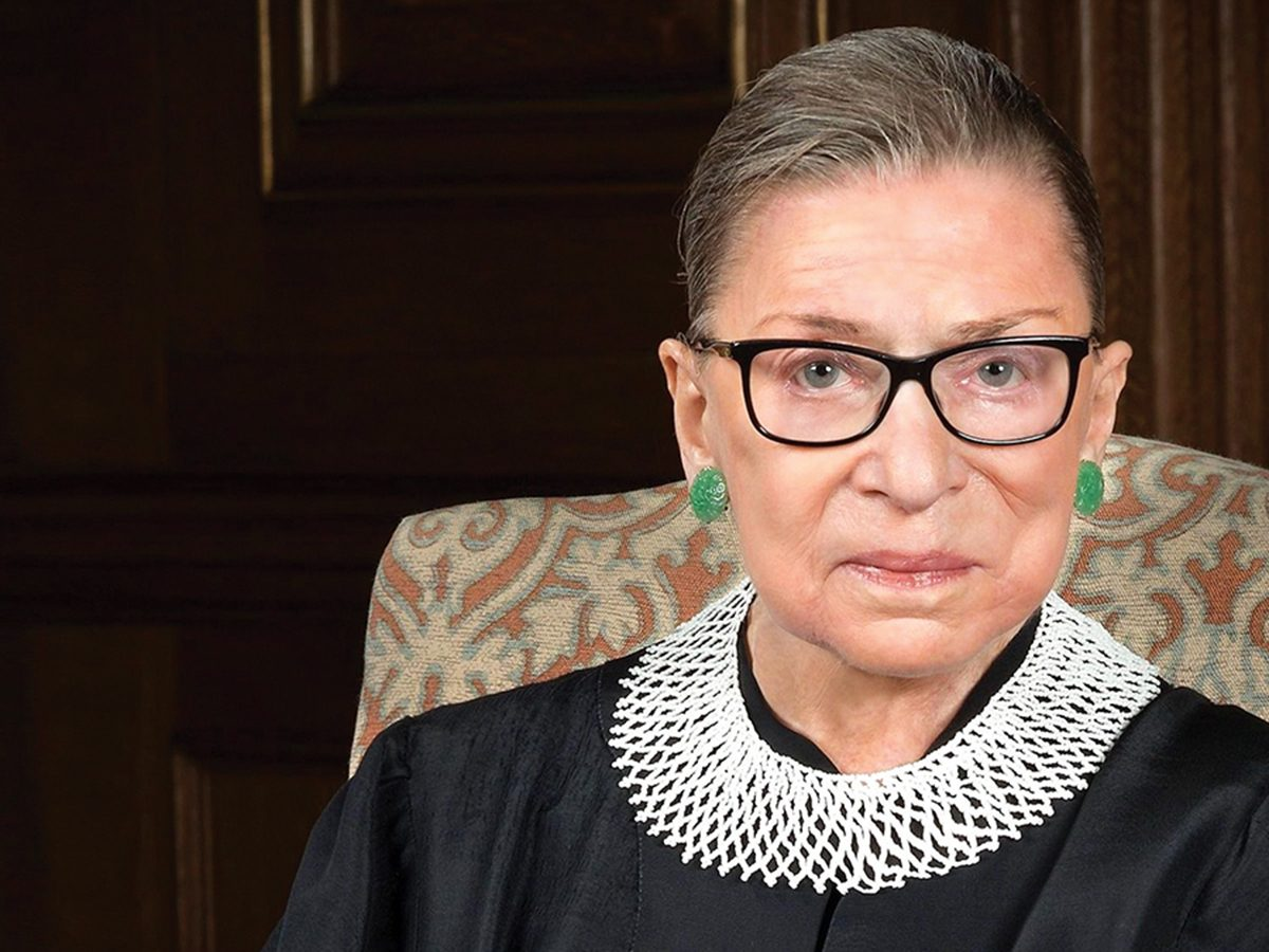 A photo of Ruth Bader Ginsburg