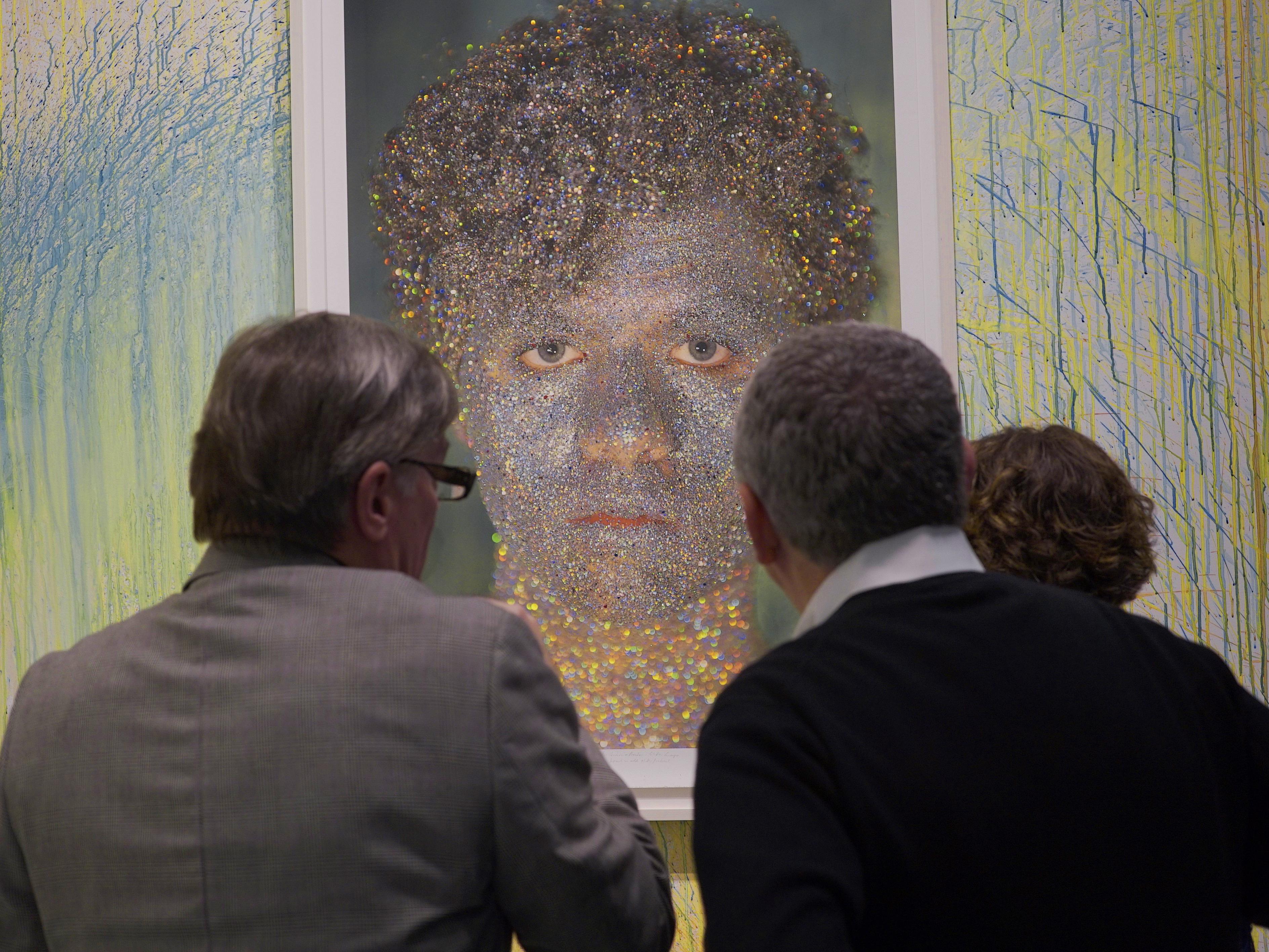 Joe Ketner at Oliver Herring exhibit