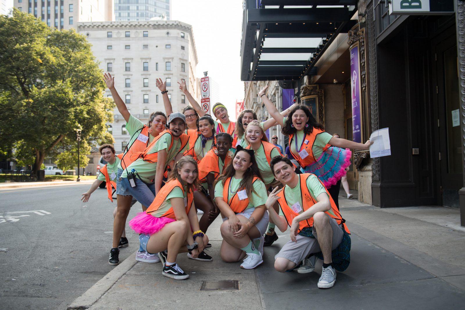 Student volunteers pose