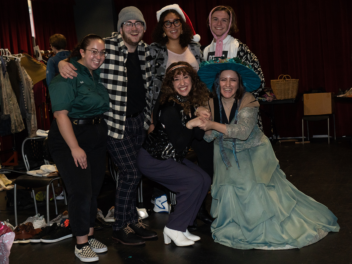 students wearing costumes