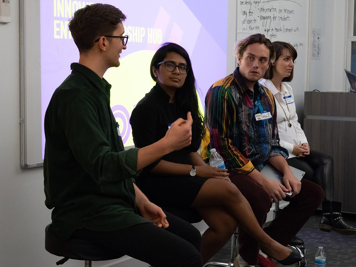 Students, entrepreneurs at Emerson Launch panel