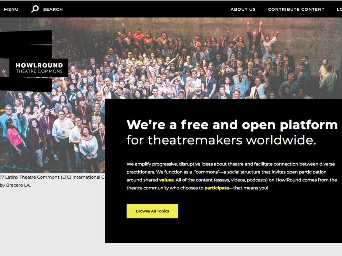HowlRound homepage