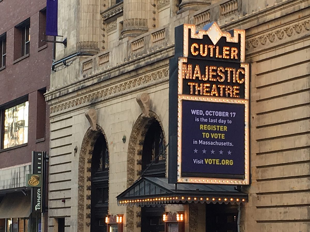 Cutler Majestic Marquee voter registration reminder