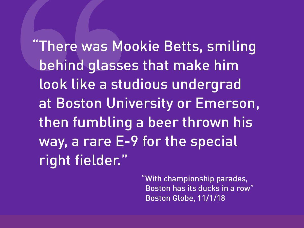 Boston Globe quote