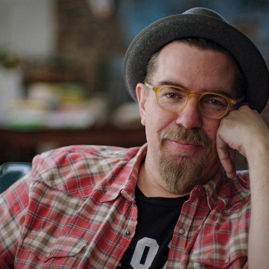 Drew Daywalt wearing hat