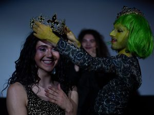 Drag ball contestant is crowned by green queen
