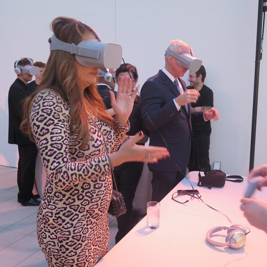woman wearing oculus rift