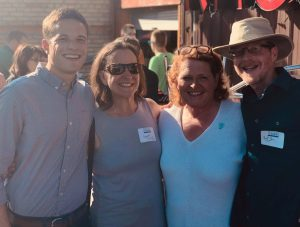Daniel Tick with his parents and Senator Heidi Heitkamp.