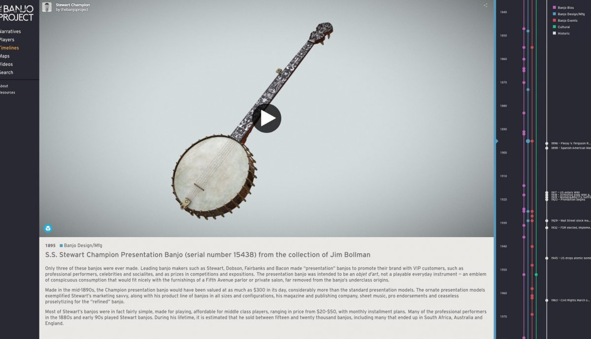 A screenshot from The Banjo Project