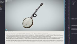 picture of banjo with text