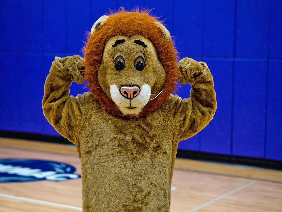 Emerson College's mascot, Griff the Lion.