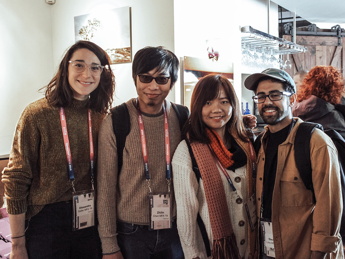 Four students at Sundance event