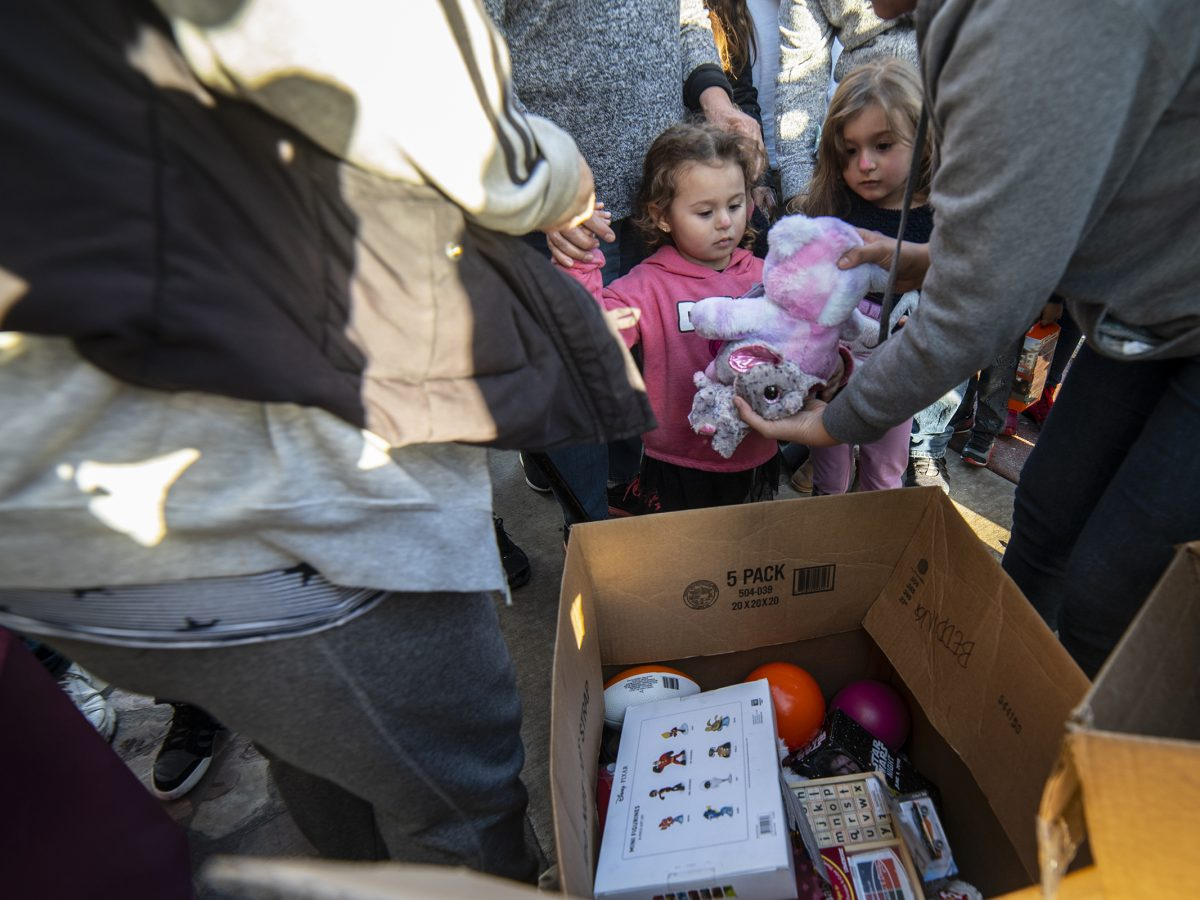 Border Angels distributed toys to children at the Tijuana border.
