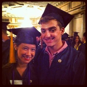 Ashley and Eric in cap and gown