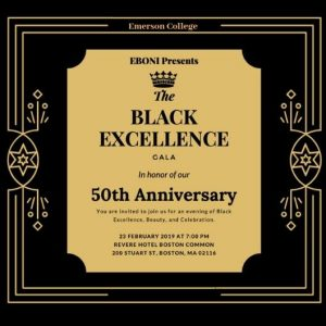 EBONI's Black Excellence Gala will celebrate the organization's 50th anniversary on February 23, 2019.