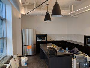 modern kitchen under construction