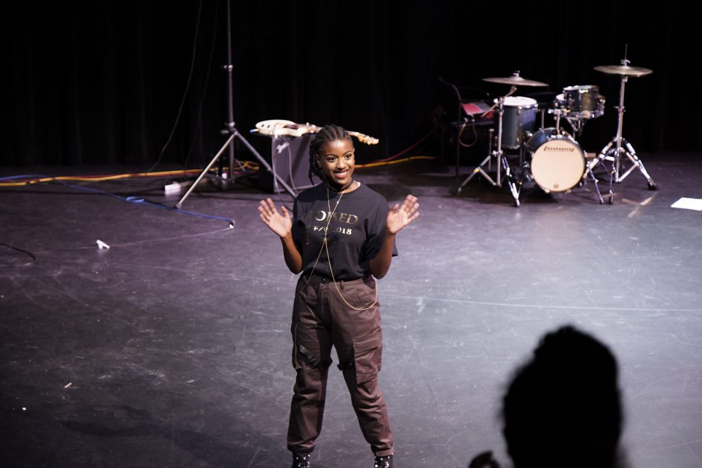 EBONI hosted its 2nd Annual BLK Out Fashion Show on on Feb. 15 at the Greene Theater. Emerson College students strutted fashions from local black designers' brands and clothing.