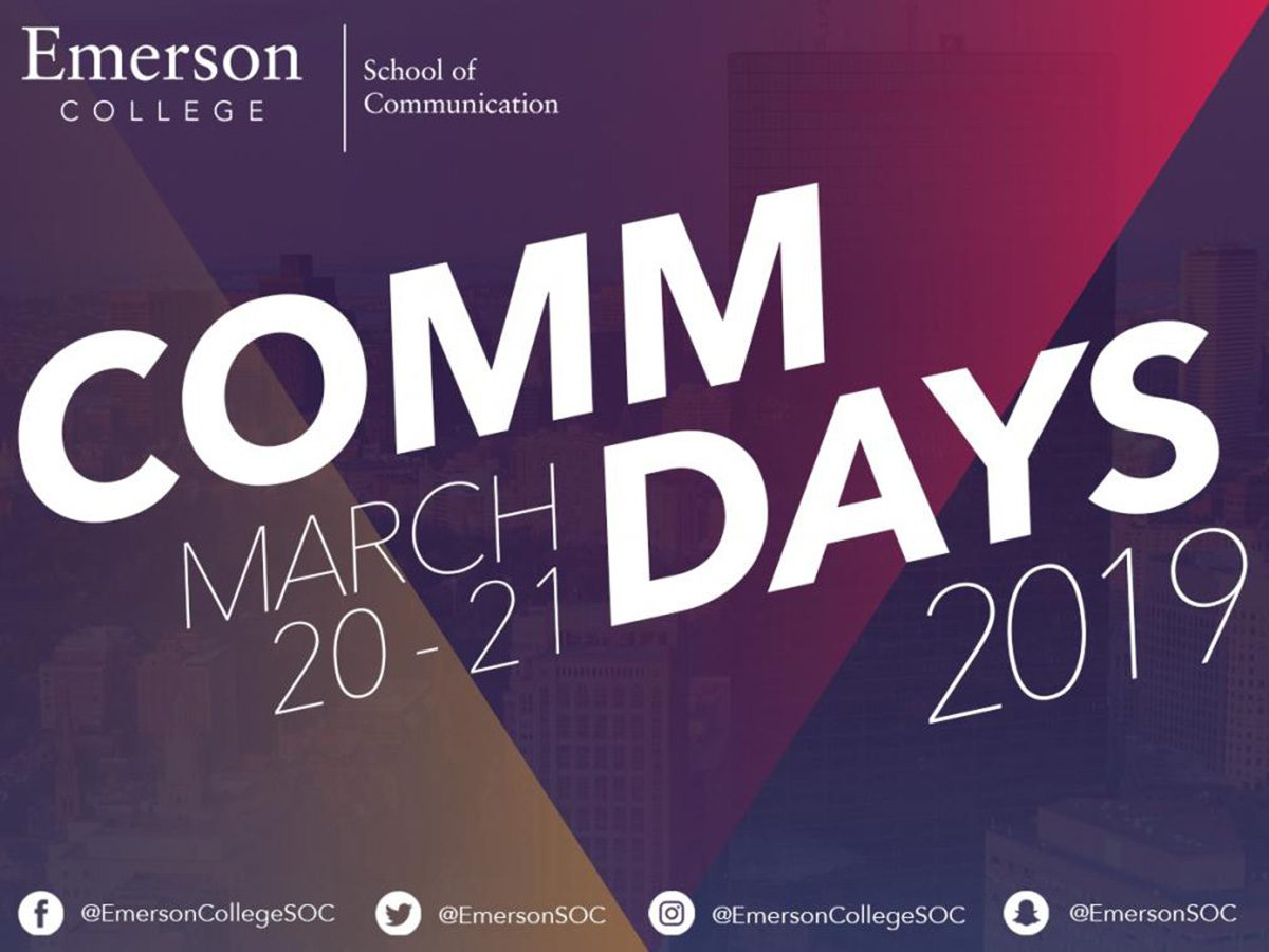 poster: Comm Days March 20-21