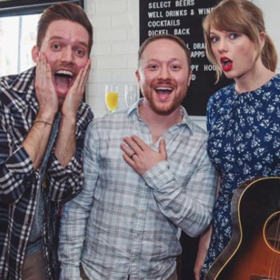 Emerson College alum Ross Girard was surprised by Taylor Swift at his engagement party with his fiancee Alex Goldschmidt.