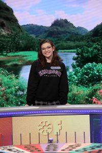 Emerson College junior Hannah Cairo was a contestant on Wheel of Fortune on March 19, 2019. (Photo by Carol Kaelson)