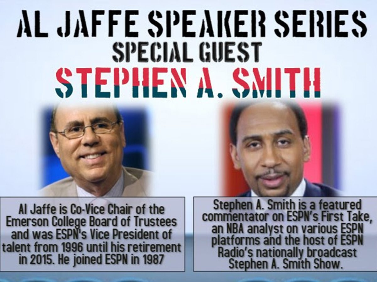 poster with head shots of Al Jaffe, Stephen A. Smith