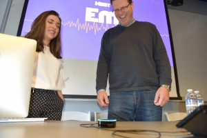 Emerson's new digital voice assistant, Em, was built in partnership with students.