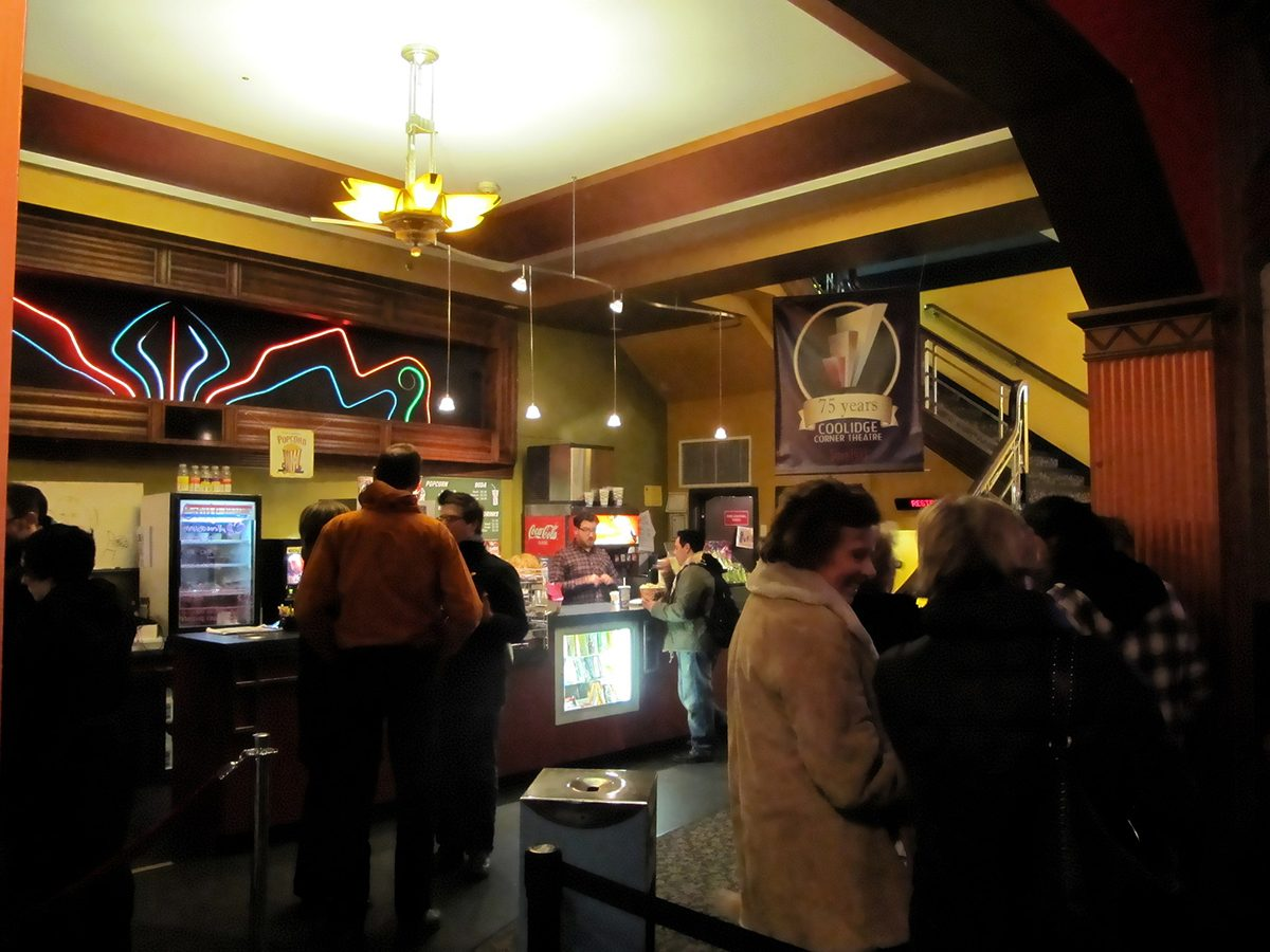 Coolidge Corner Theatre lobby