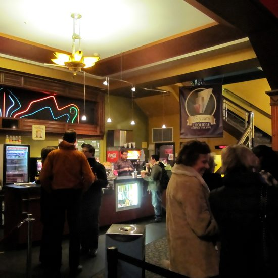 Coolidge Corner Theatre lobby