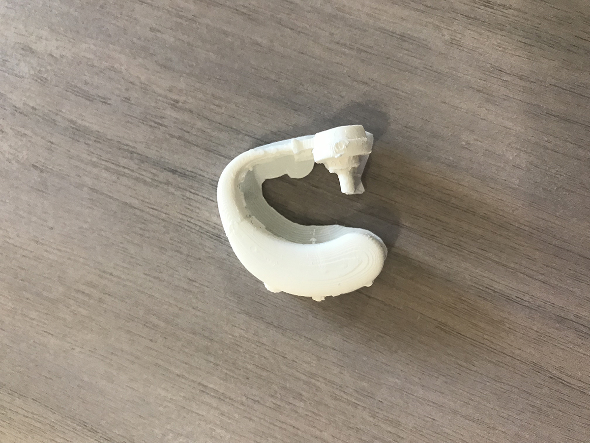3D printed hearing aid