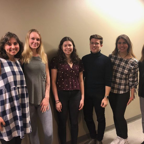 Six students presented at the Emerson College Honors Program Seniors Honors Thesis Showcase.