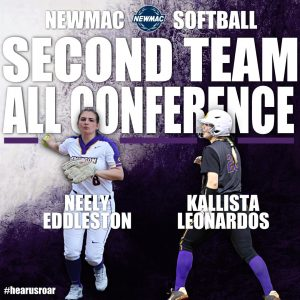 Neely Eddleston and Kallista Leonardos were named to NEWMAC's All-Conference Second Team.