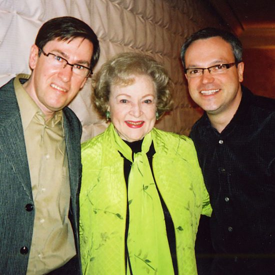Bob Fleming and his husband met Betty White during the American Comedy Archives project.