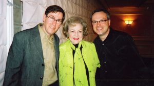 Bob Fleming with his husband and actress Betty White meet at the American Comedy Archives project.