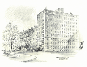 A rendering of 100 Beacon Street building. (Courtesy Emerson College Archives and Special Collections)