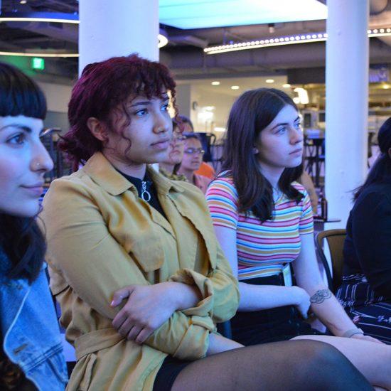 women in audience