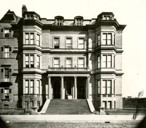 100-102 Beacon Street building (ca. 1867) (Photograph by Josiah Johnson Hawes courtesy of the Boston Athenaeum)