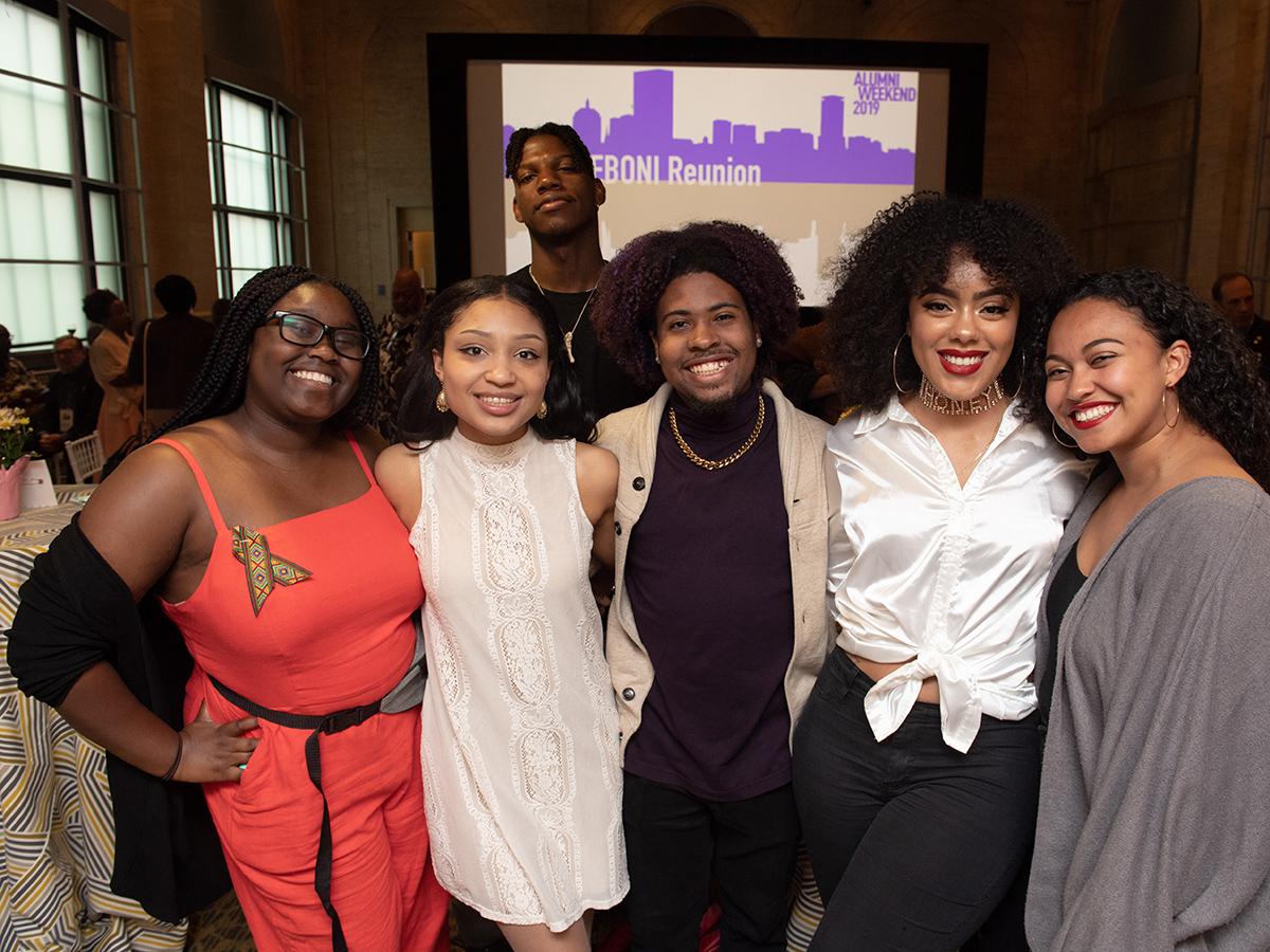 five young women at EBONI reunion