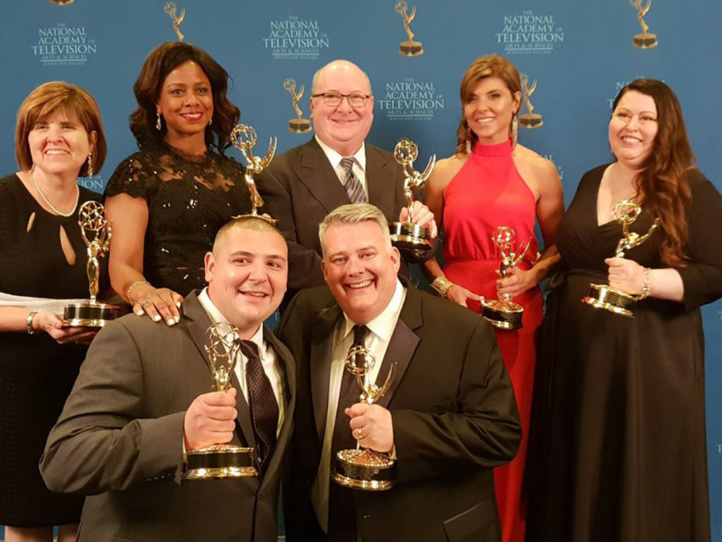 WCVB team with Emmys