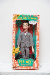 A talking Pee-Wee Herman doll at the Emerson College Archives (Photo taken by Derek Palmer for Emerson College)