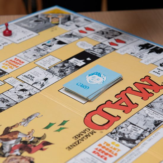 The Emerson College Archives include board games of Mad Magazine, The Pink Panther and more. (Photo taken by Derek Palmer for Emerson College)