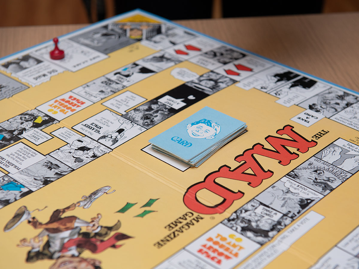 Board game Mad Magazine from Emerson College Archives (Photo taken by Derek Palmer for Emerson College)