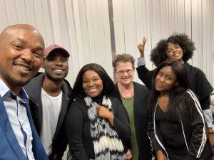 University of Botswana students, and Dean of Graduate Studies Jan Roberts-Breslin, green shirt.