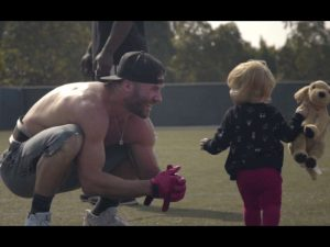 Julian Edelman and his daughter. (Photo courtesy Coast Productions)
