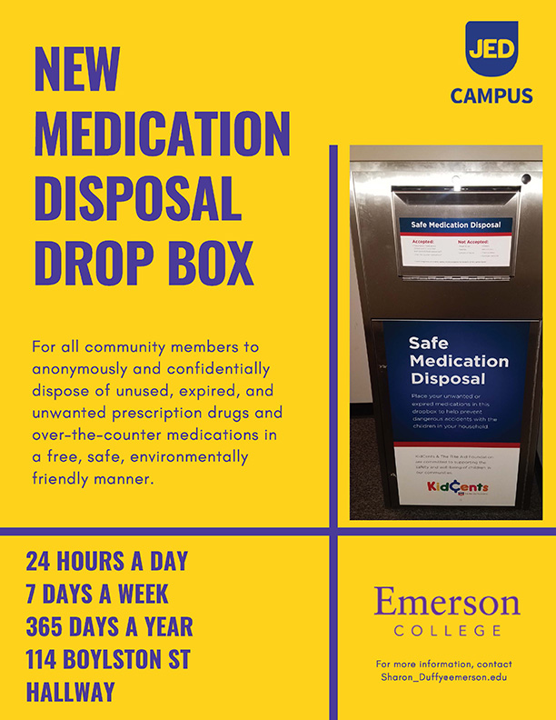 poster with photo of drop box