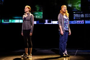 Christine Noll as 'Cynthia Murphy' and Jessica Phillips, right, as 'Heidi Hansen' (Photo by Matthew Murphy)