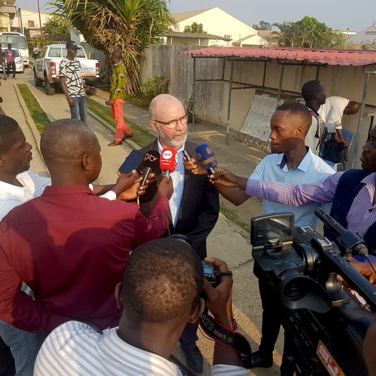 SOC Dean Raul Reis is interviewed in Angola